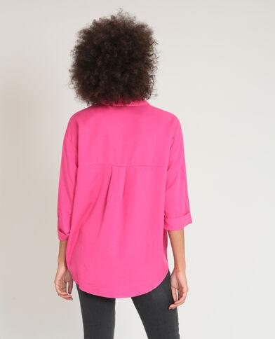 Soepelvallend XL-hemd roze