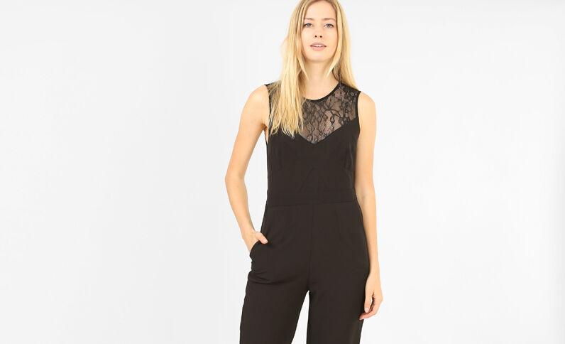 Combi-pantalon sans manches noir
