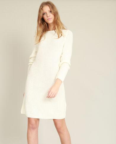 Trui-jurk wit