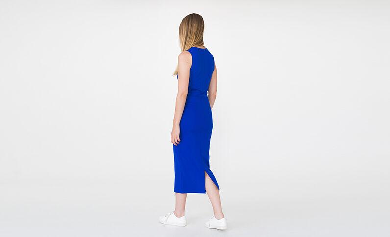 Lange jurk elektrisch blauw