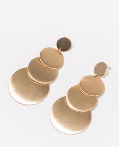 Maxi-oorbellen goudkleurig