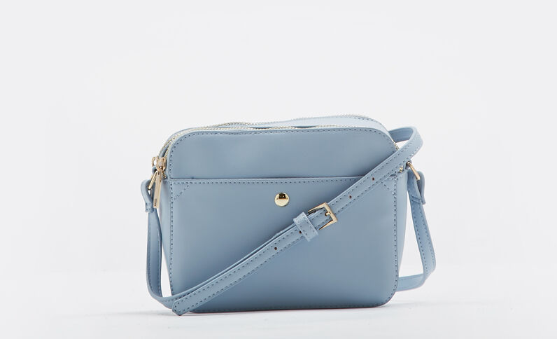 Boxy-tasje blauw