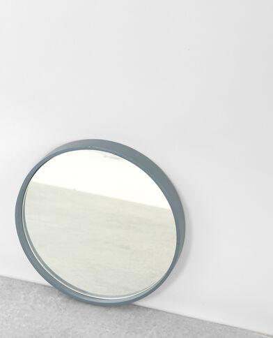 Petit miroir rond bleu aqua