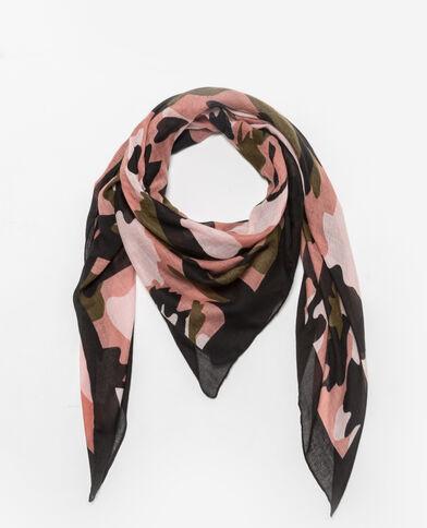 Foulard met camouflageprint zwart