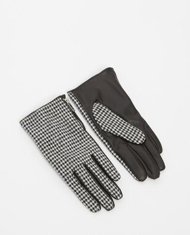 Handschoenen met print zwart