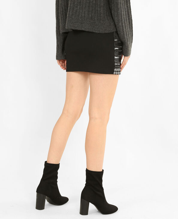 Bodycon-rok met parels grijs