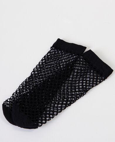 Sokken in nettricot zwart