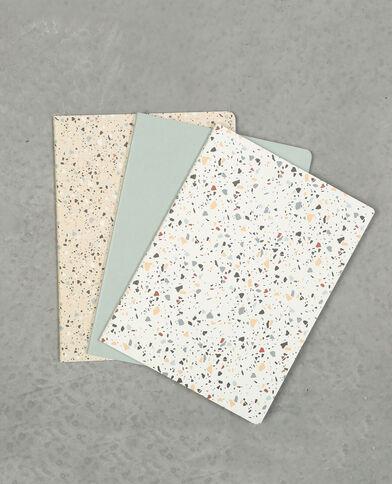 Set van 3 notebooks blauw