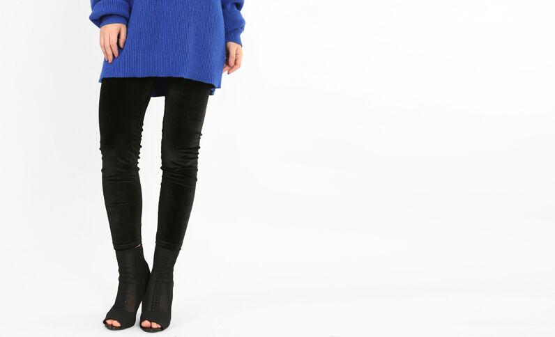 Legging effet velours noir