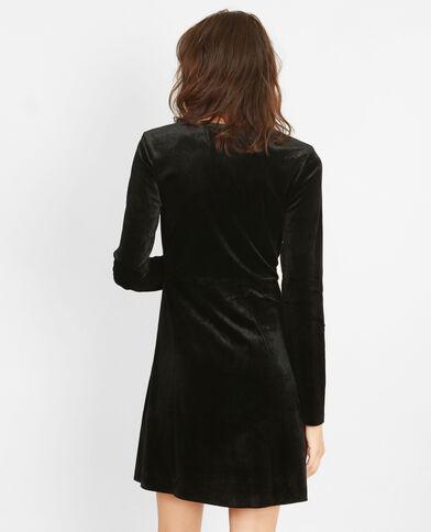 Fluwelen jurk zwart