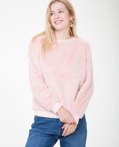 Sweater van imitatiebont roze
