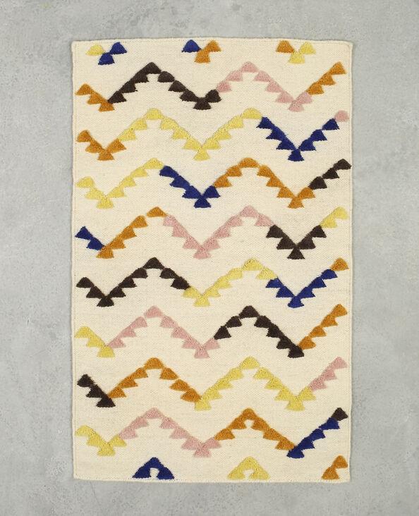 Meerkleurig tapijt ecru