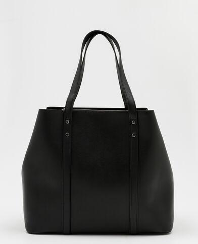 Grote shopper zwart