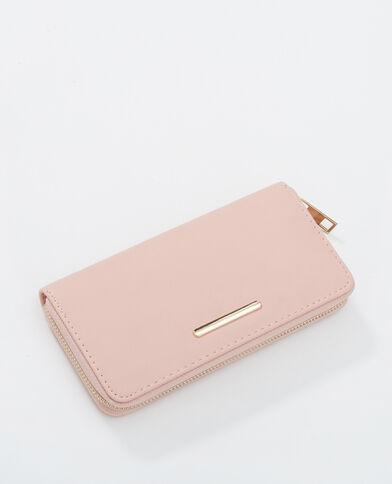 Lange portefeuille roze