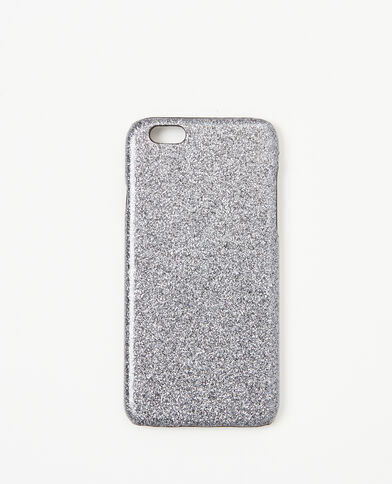 Coque glitter compatible Iphone 6/6S gris