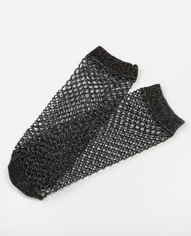 Sokken van nettricot zwart