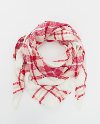 Geruite sjaal roze