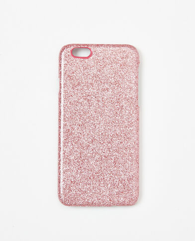 Glitterhoesje voor iPhone 6/6S roze