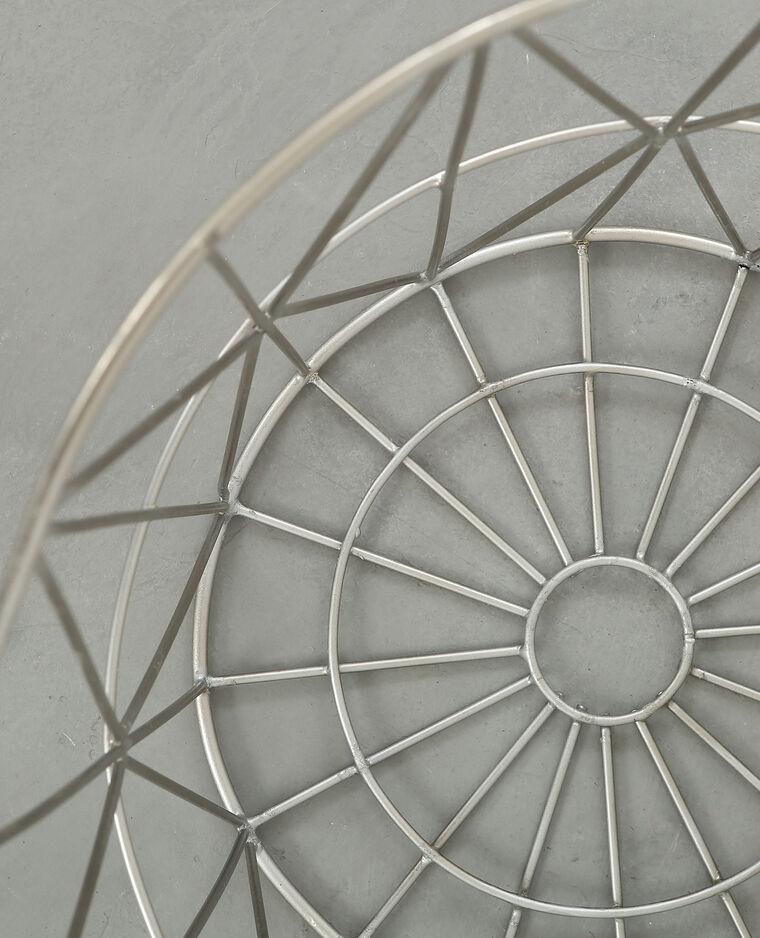 Corbeille métal Gris