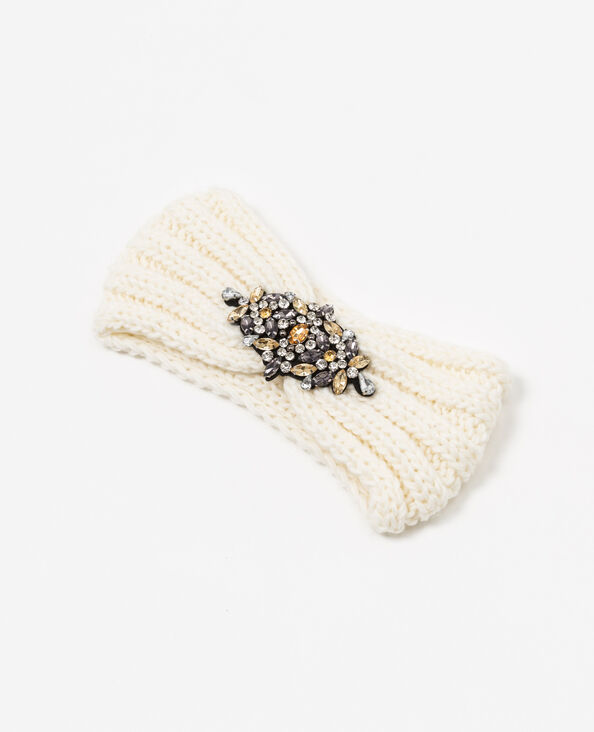 Headband à bijoux blanc cassé