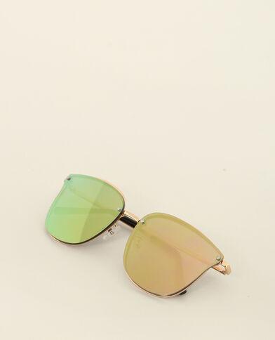 Zonnebril met spiegeleffect goudkleurig