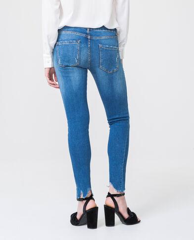 Jean skinny à perles bleu foncé