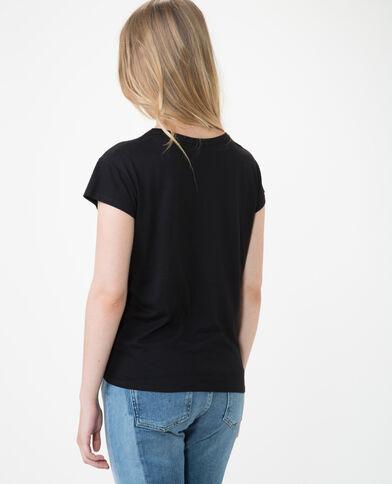 T-shirt imprimé à nouer noir