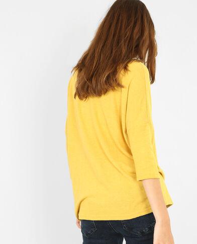 Zachte trui geel