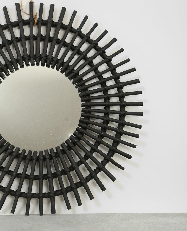 zonnespiegel van rotan zwart 902206899a07 pimkie. Black Bedroom Furniture Sets. Home Design Ideas