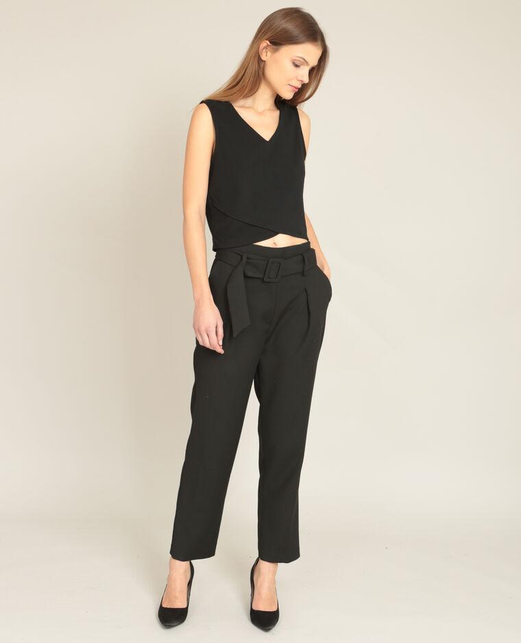 pantalon carotte noir 140579899a08 pimkie. Black Bedroom Furniture Sets. Home Design Ideas