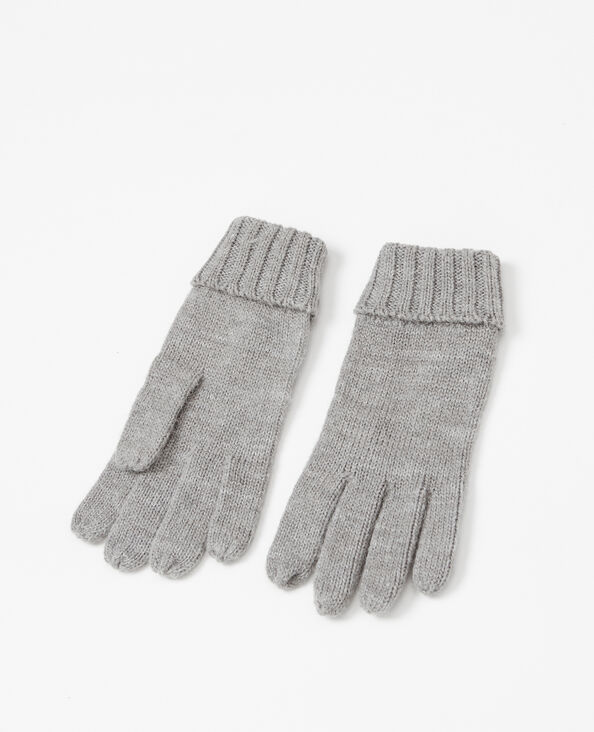 Handschoenen van tricot gemêleerd grijs