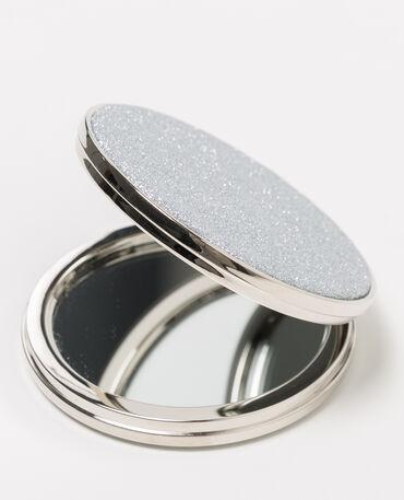 Zakspiegeltje met pailletten grijs