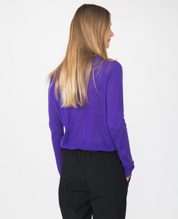 Lichte basic trui violet