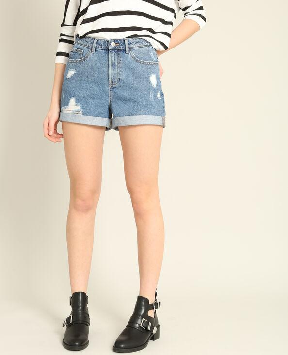 Mom jeansshort denimblauw