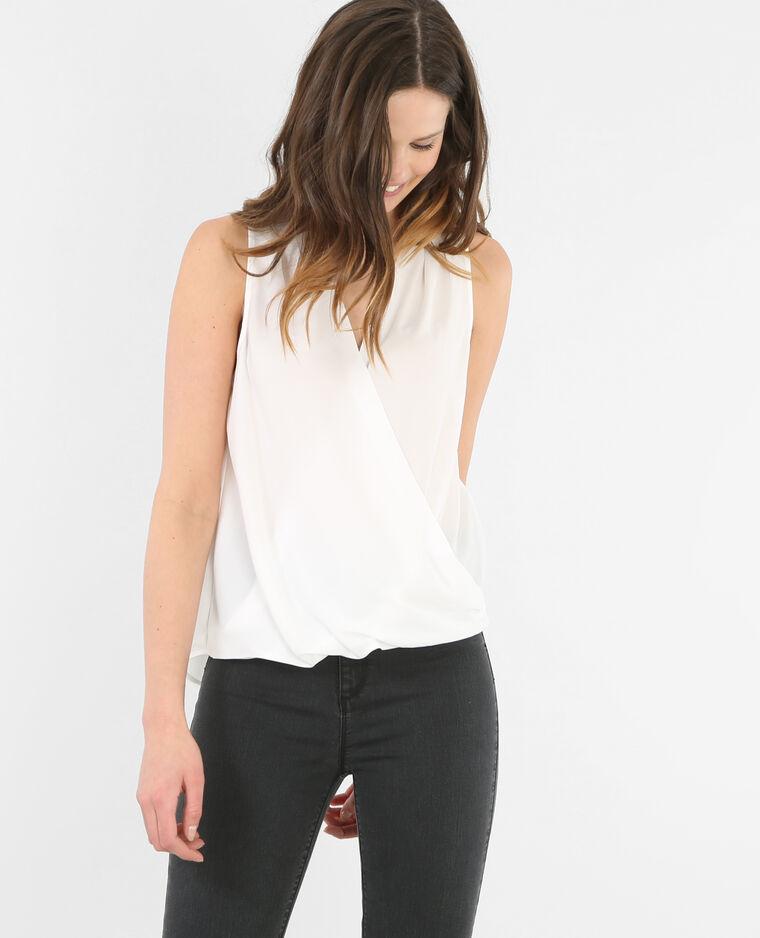 blouse cache coeur blanc cass 567103912a09 pimkie. Black Bedroom Furniture Sets. Home Design Ideas