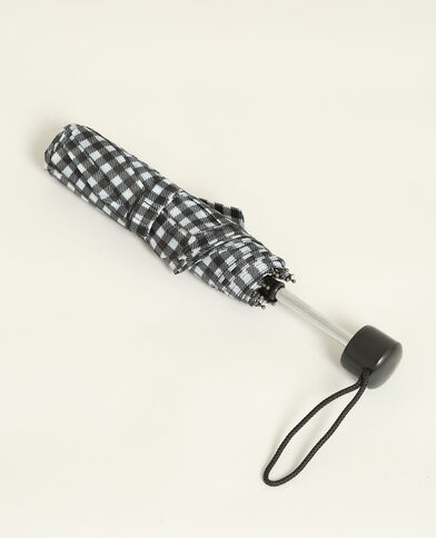 Paraplu met print zwart
