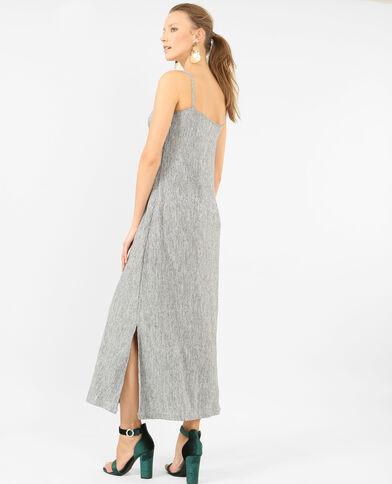 Lange jurk met structuur grijs
