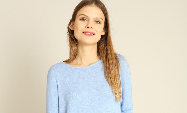 T-shirt à manches chauve-souris bleu ciel