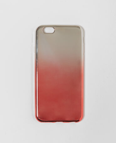 Coque compatible iPhone tie and dye rouge