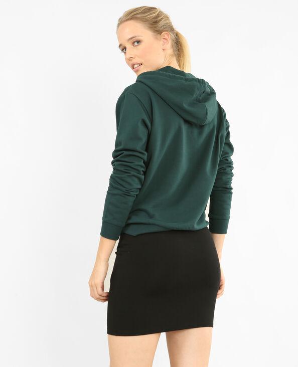 Geborduurde sweater met capuchon groen