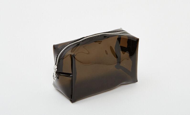 Doorschijnend make-uptasje zwart