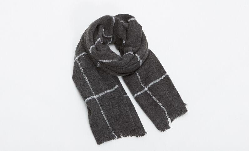 Grande écharpe gris