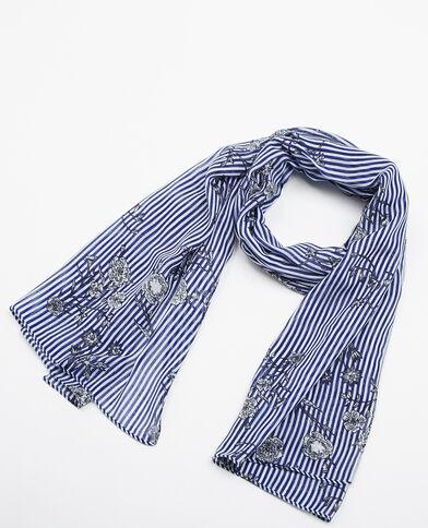 Foulard met strepen blauw