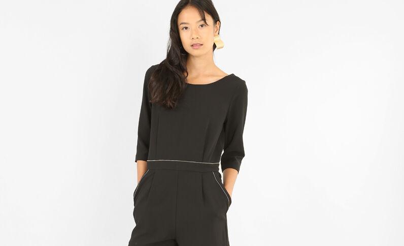 Combishort zippée noir