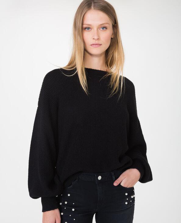Pull oversized noir