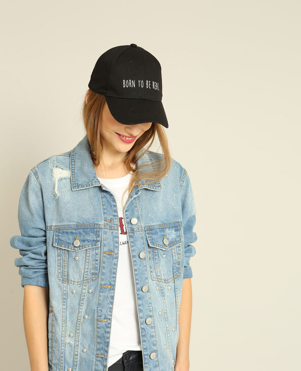Casquette Born to be real noir