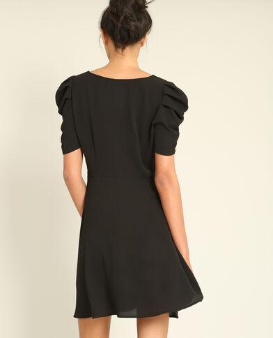 Soepelvallende jurk met print zwart