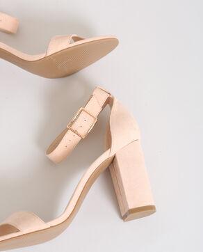 Sandalen met hakken poederroze