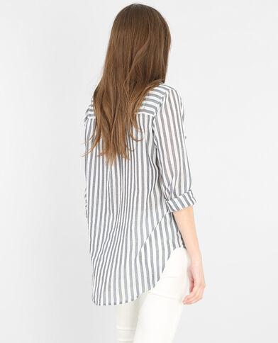 Hemd met streepjes gebroken wit