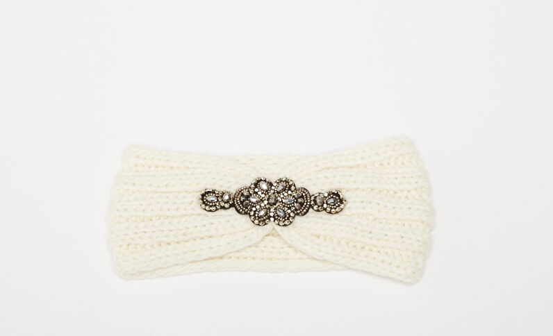 Headband à bijou blanc cassé